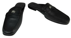 Burberry Leather Black Prorsum Loafer Flats