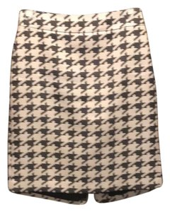 Banana Republic Skirt black white houndstooth