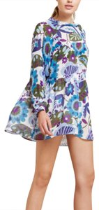 Reformation short dress blue, white, purple on Tradesy