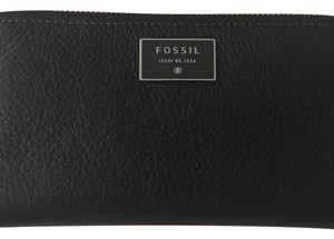 Fossil Fossil SL6677001 Dawson Black leather zip clutch wallet