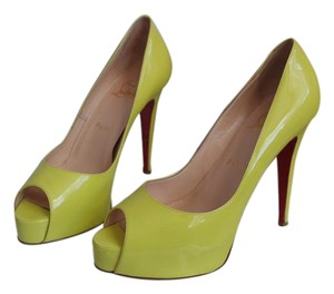 Christian Louboutin Louboutin Neon Fluorescent Yellow Pumps