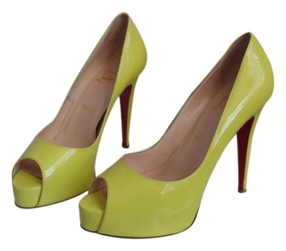 Christian Prive Louboutin Yellow Hyper Prive Christian 120 Fluorescent 120 Pumps 414727