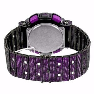 G-Shock Purple G-shock Watch Custom Simulated Diamonds Iced Out Gd110-hc-1a