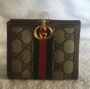 Gucci Gucci Wallet GG Monogram Red Green Webbing