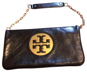 Tory Burch black with gold hardware Clutch