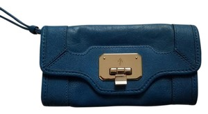 Cole Haan Clasp Bright Blue New Wristlet Evening Empire Blue Clutch