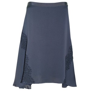 Banana Republic Lace Sexy Skirt Dark charcoal