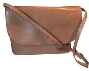 Marni Leather Messenger Tan Shoulder Bag