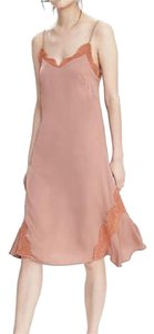 Banana Republic short dress Salmon Nude Slip Lace Spaghetti Strap on Tradesy