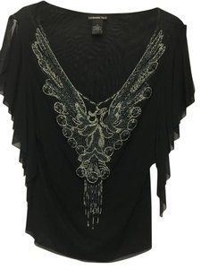 Vivienne Tam Top Black and Silver