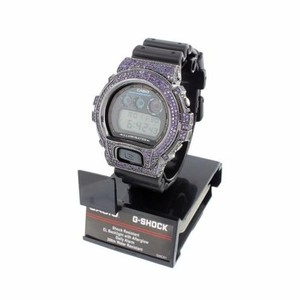 G-Shock Mens G-shock Watch Dw6900 Purple Simulated Diamond Iced Out Digital