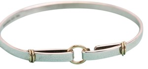 Tiffany & Co. Tiffany & Co. Sterling Silver 18k & Yellow Gold Two Tone Bangle