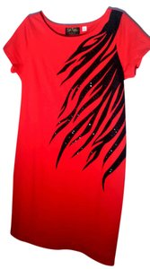 Bob Mackie short dress Red w/black on Tradesy