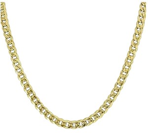 Other Miami Cuban Link Necklace 10k Yellow Gold Chain Inch Mens Mm