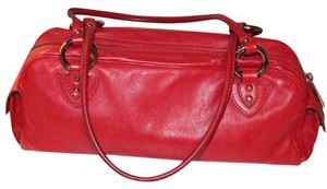 Marc Jacobs Leather Buckles Silver Hardware Made In Italy Zipper Shoulder Bag
