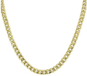 Other 10k Gold Necklace Miami Cuban Link Chain Inches High End Designer Mens