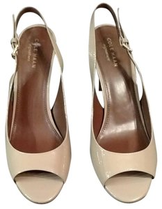 Cole Haan Patent Leather Imported Nude Pumps