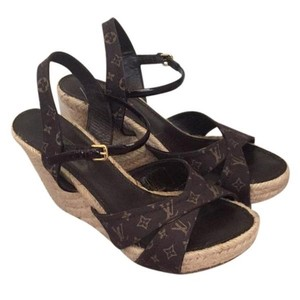 Louis Vuitton Monogram Wedges