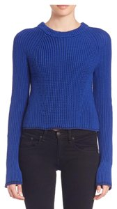 Rag & Bone Spring Cotton Royal Blue Trendy Sweater