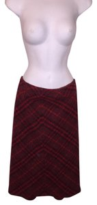 Burberry Skirt Cranberry red
