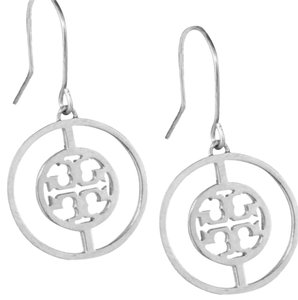 Tory Burch Deco logo drop earring