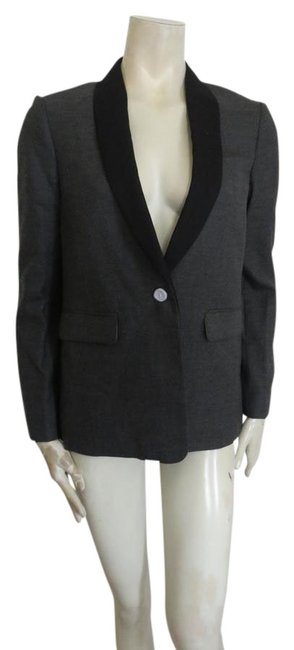 Preload https://img-static.tradesy.com/item/20739990/jcrew-dark-gray-and-black-one-button-fully-lined-wool-shawl-collar-size-4-s-0-1-650-650.jpg