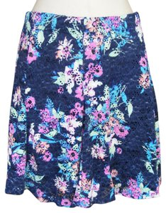 Candie's New Skater A-line Machine Washable Eyelet Skirt Multicolor