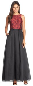 Aidan Mattox Ball Gown Jacquard Organza Evening Gown Dress