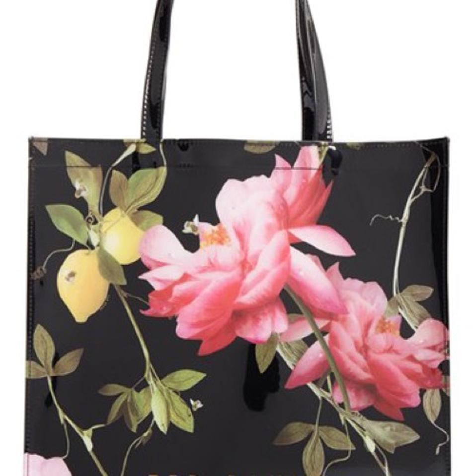 e049129b87 Ted Baker Nwt* Citrus Bloom Large Icon Black Floral Tote - Tradesy