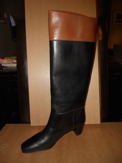 Christian Louboutin Cavaliere Two Tone Black/Brown Boots Image 1