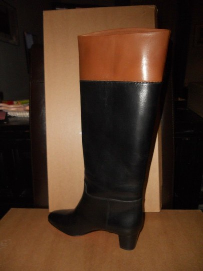 Christian Louboutin Cavaliere Two Tone Black/Brown Boots Image 3