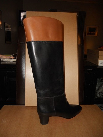Christian Louboutin Cavaliere Two Tone Black/Brown Boots Image 5