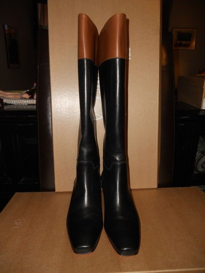 Christian Louboutin Cavaliere Two Tone Black/Brown Boots Image 6