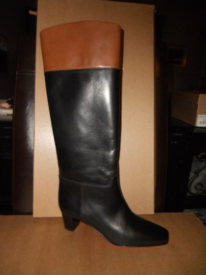 Christian Louboutin Cavaliere Two Tone Black/Brown Boots Image 8