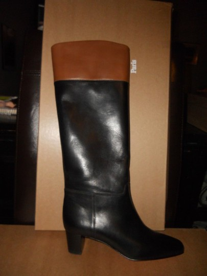 Christian Louboutin Cavaliere Two Tone Black/Brown Boots Image 9