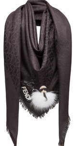 Fendi karlito scarf with fur and leather