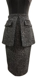 Michael Kors Collection Peplum Skirt Black, White