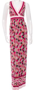 Multi-Color Maxi Dress by Tory Burch Silk