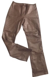 Cache Boot Cut Pants Bronze Leather