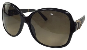Gucci New Gucci GG 3638/S 75QED Leather Temple Black Gold Plastic Style Sunglasses 125mm