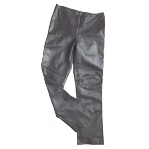Cache Boot Cut Pants Pewter Leather