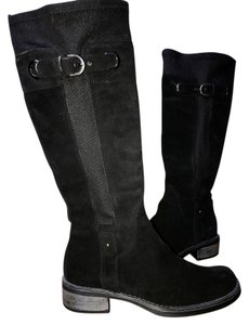 Aquatalia Waterproof Suede Pull-on Lined black Boots