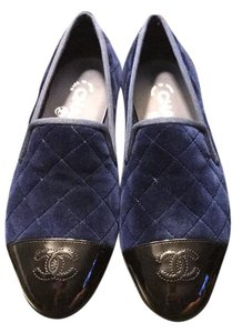 Chanel blue black Flats