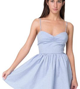 American Apparel short dress Blue on Tradesy