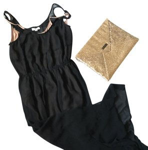 Black and Nude Maxi Dress by Silence + Noise