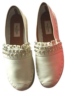 Valentino Sandals Espadrille Leather Comfortable Ivory Flats