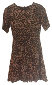 H&M short dress Leopard print Leopard Fit And Flare Short Sleeve on Tradesy