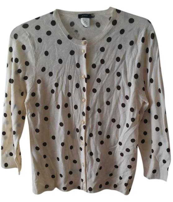 Item - Ivory Beige Brown Cardigan Size 8 (M)