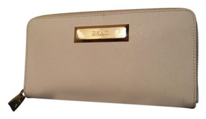 DKNY DKNY,saffiano leather wallet,white and gold