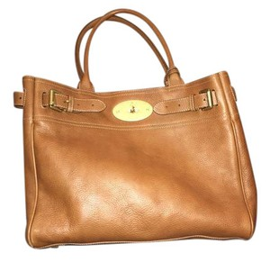 Mulberry Leather Tote in Natural tan